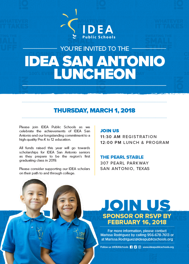San Antonio Luncheon Idea Public Schools